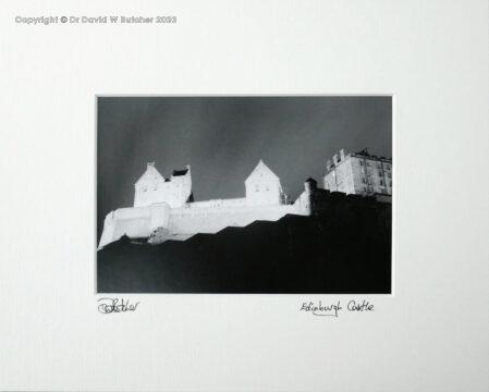 Scotland, Edinburgh Castle at Night
