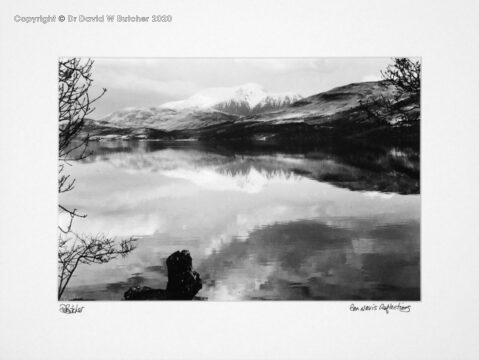 Scotland, Fort William Ben Nevis reflections across Loch Linnhe