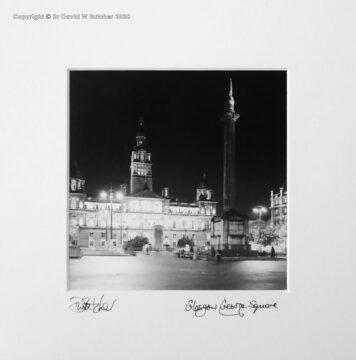 Scotland, Glasgow George Square at Night