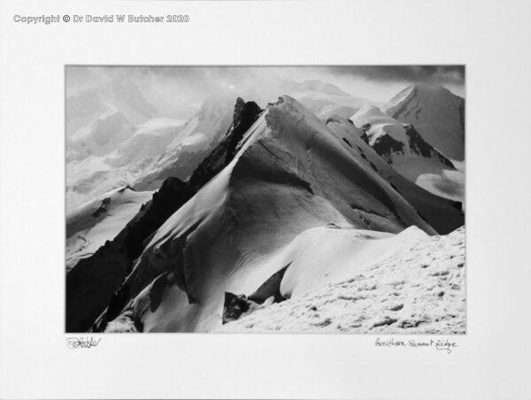 Switzerland, Valais, Zermatt Breithorn Summit Ridge