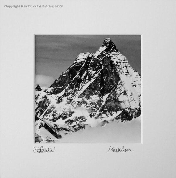 Switzerland, Zermatt Matterhorn and Clouds