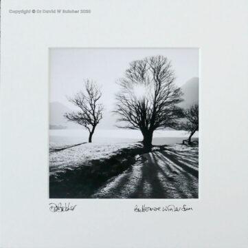 England, Lake District Buttermere Winter Sun