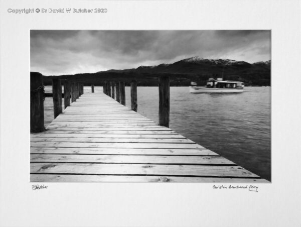 England, Lake District Coniston Brantwood Ferry and jetty