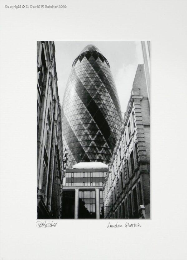 England, London Swiss Re Gherkin from Mitre Street