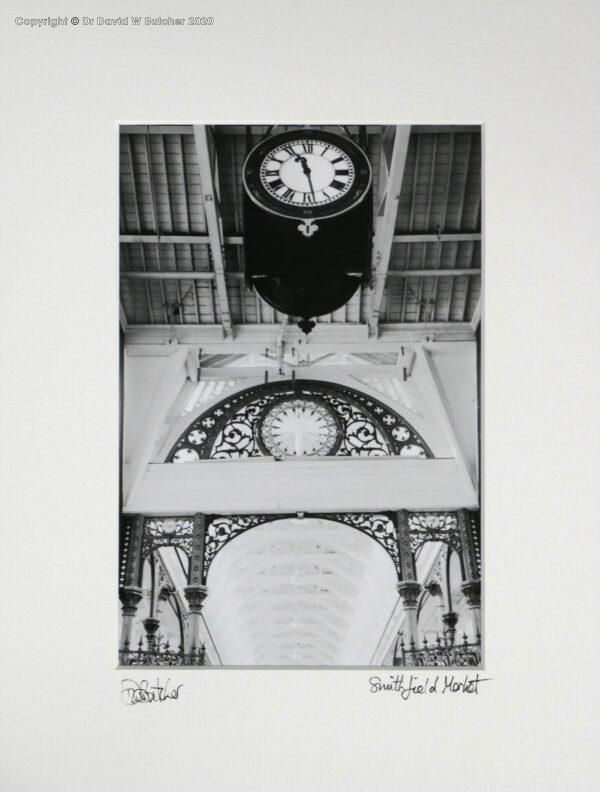 England, London Smithfield Market Roof and Clock