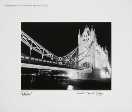 England, London Tower Bridge at Night from Shad Thames