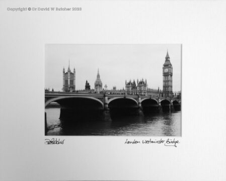 England, London Westminster Bridge over River Thames, Big Ben and Houses of Parliament