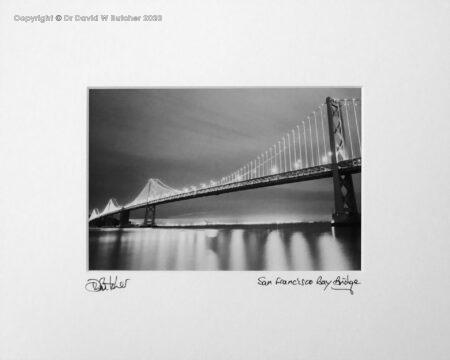 USA, San Francisco Bay Bridge at Night