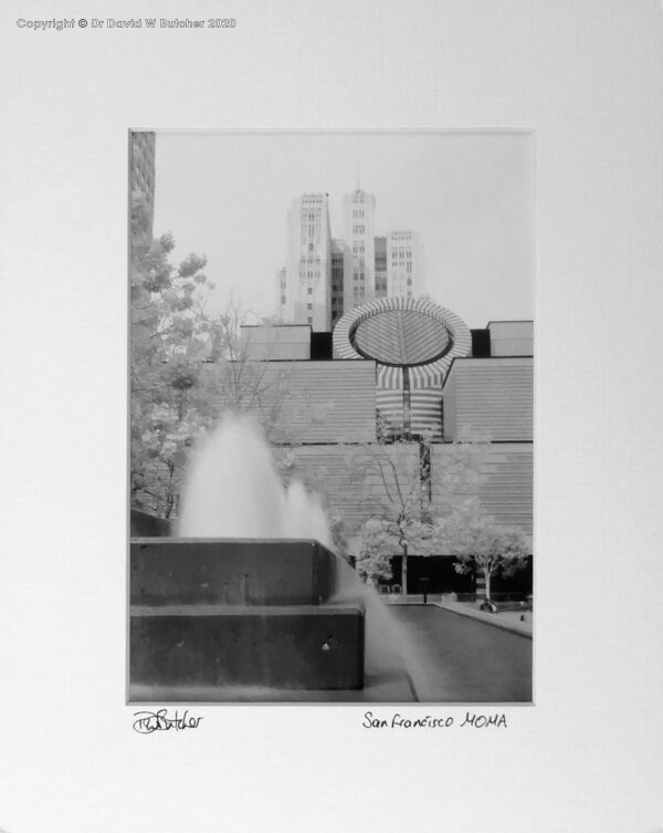 USA, San Francisco Museum of Modern Art MOMA from Yerba Buena Gardens California